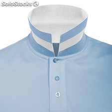Polo Homme bleu ciel/blanc casual collection verano