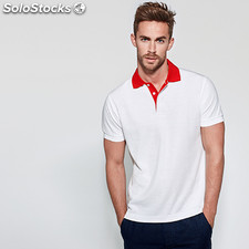 Polo Homme borneo blanc/rouge t: m. Casual collection verano