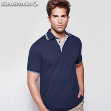 Polo Homme montreal blanc/marine t: s. Casual collection verano