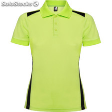 Polo Mujer m lima/negro sport collection