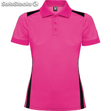 Polo Mujer m roseton/negro sport collection