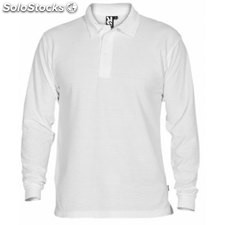 Polo Unisex 3/4 blanco school collection