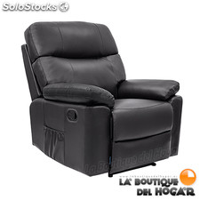 Poltrona de massagem Relax Ginebra a descansar manual preto