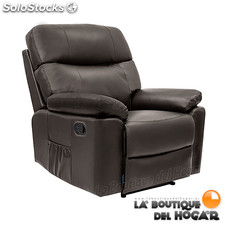 Poltrona de massagem Relax Modelo Ginebra a descansar manual brown