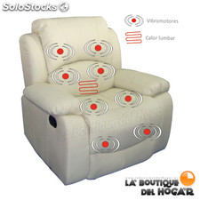 Poltrona Massagem Relax Deluxe ECO-746 Cor bege