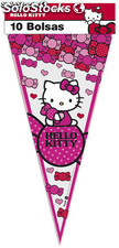 Polybag 10 bolsas triangulo hello kitty