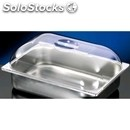 Polycarbonate dome lid for ice cream pans - dimensions mm. w 360 x d 250 x 80 h