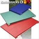 Polyethylene cutting boards with 2 stoppers - colours available: white, blue,
