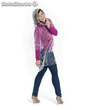 Poncho impermeable desechable con funda