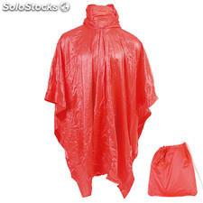Poncho. Red