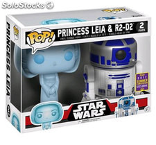 Pop! Pack Star Wars - rd-D2 and Leia Holo