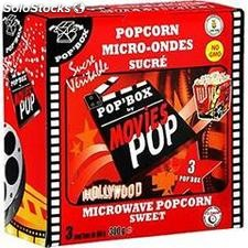 Popcorn sucre microonde 3X100G