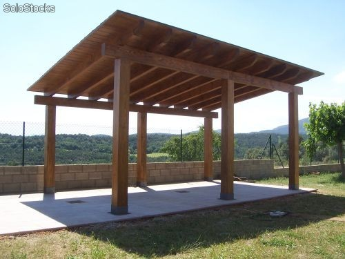 Porches de madera a medida rustic osona for Porches de madera