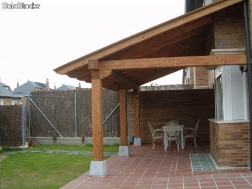 Porches de madera pergolas cenadores baratos - Porches de madera en kit ...