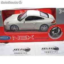 Porsche 911 (997) carrera s coupe blanco escala 1/43 welly coche