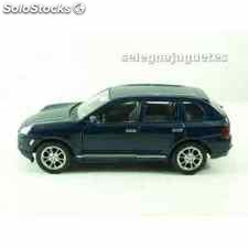 Porsche cayenne turbo azul escala 1/34 a 1/39 welly coche metal