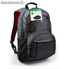 Port Designs - HOUSTON Nylon Negro, Gris, Rojo mochila