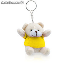 Porta-chaves peluche. Yellow