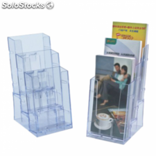 Porta folletos 1/3 din a4 transparente ps (4 u.)