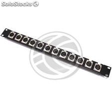 Porta patch panel 12 Rack19 fêmea XLR3-1U (XQ23)