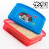Porta Sandwich Mickey Disney, color azul, ideal para almuerzo o comida, 17 x 11