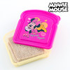 Porta Sandwich Minnie Disney, color rosa, ideal para almuerzo o comida, 17 x 11