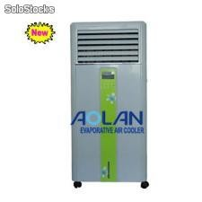 Portable evaporative air cooler for household