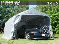 Portable Garage pro 3.6x6.0x2.7 m, grey