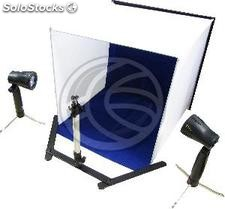 Portable Photo Studio 40x40x40 cm with two foci and 4 chroma (EV91)