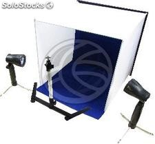 Portable Photo Studio 50x50x50 cm with two foci and 4 chroma (EV92)