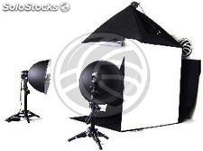 Portable Photo Studio 60cm softbox and spotlights (EW68)