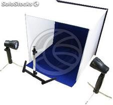 Portable Photo Studio 60x60x60 cm with two foci and 4 chroma (EV93)
