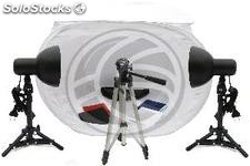 Portable photo studio with lights and tripod 75cm (EW67)