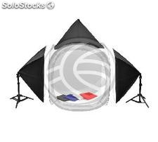 Portable photo studio with softbox 70cm and supports and suitcase (EW69-0002)