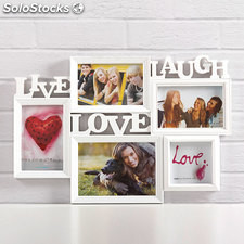 Portafoto Live Laugh Love (5 foto)