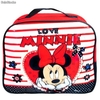 Portameriendas Rectangular Minnie Mouse Love""""