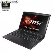 Portatil msi gp62 6qe-266xes leopard pro - i7-6700hq 2.6ghz - 8gb - 1tb -