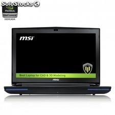 Portatil msi wt72 6qi-659xes - i7-6700hq 2.8ghz - 16gb ddr4 - 1tb+256gb ssd -