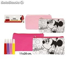 Portatodo Plano Colorear Minnie + 4 Rotuladores DISNEY