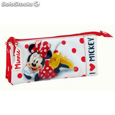 Portatodo triple Minnie Disney Love Mickey