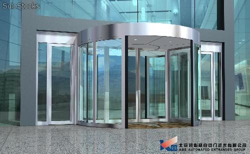 Porte a tambour ka 022 two wings revolving door for Porte tambour