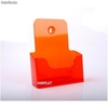 Porte Brochures acrylique orange brillance a5 vertical