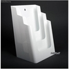 Porte Brochures acrylique polystyrene Blanc Brillance a4 vertical (3 caisses) - Photo 1