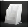 Porte Brochures acrylique polystyrene Blanc Brillance a4 vertical (3 caisses) - Photo 2