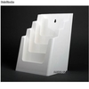 Porte Brochures acrylique polystyrene Blanc Brillance a5 vertical (4 caisses) - Photo 2
