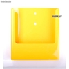 Porte Brochures acrylique polystyrene Jaune Brillance a4 vertical Mural - Photo 1