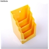 Porte Brochures acrylique polystyrene Jaune Brillance a5 vertical (4 caisses) - Photo 2