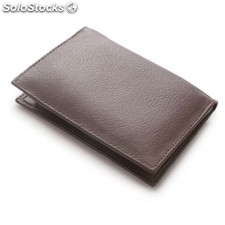 Porte cartes avec bloc notes cuir souple mt-161