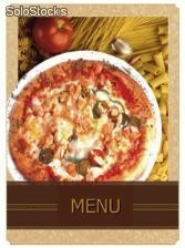 "Porte menu motif ""pizza"""