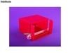 Porte serviettes plexiglas transparent Premiun fuchsia - Photo 1